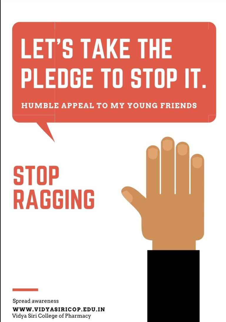 Anti-Ragging committee Vidya Siri College of Pharmacy